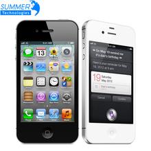 "Original Unlocked Apple iphone 4S Brand Cell phones 3.5"" Retina IPS 16GB 32GB ROM used Mobile phone 8MP 1080P WCDMA GPS IOS(China (Mainland))"
