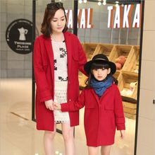 New winter family matching outfits Outwear Coat For Mom and Daughter Mother Famliy Look Clothing Mother Daughter Girl Clothes