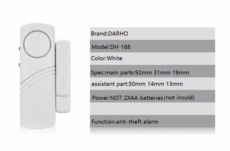DARHO Sensors Protection High Quality LongeDoor/Window entry alarm Wireless Burglar Alarm System Safety Security Pack of lots