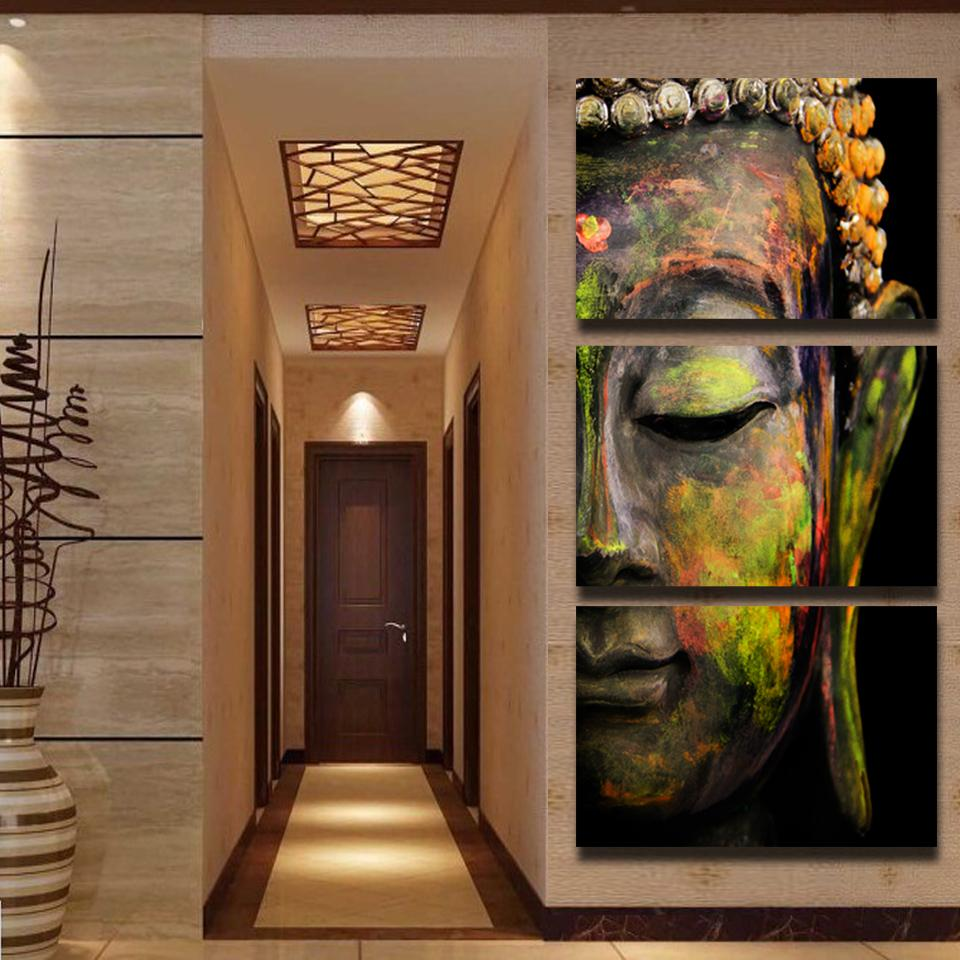 Buddha oil painting wall art paintings picture paiting for Art painting for home decoration