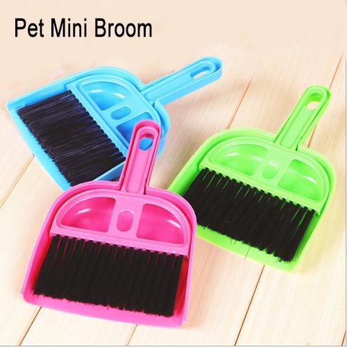 Pet Cleaning Supplies mini dustpan and broom sweeping 19.5cm * 12.5cm Dog House Tool Plastic Broom Dustpan Color Random(China (Mainland))