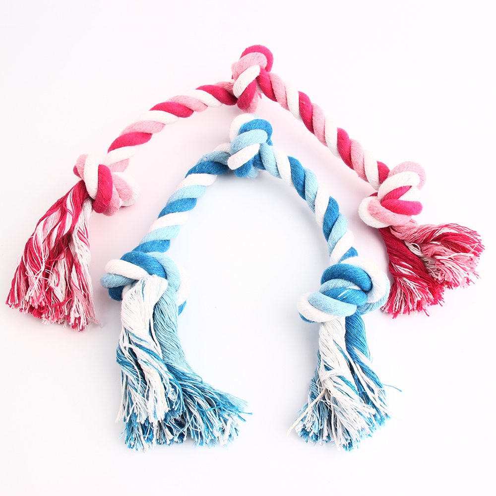 3 knot dog cotton rope toy funny playing ,cleaning teeth & anti biting toy for small and medium dogs(China (Mainland))