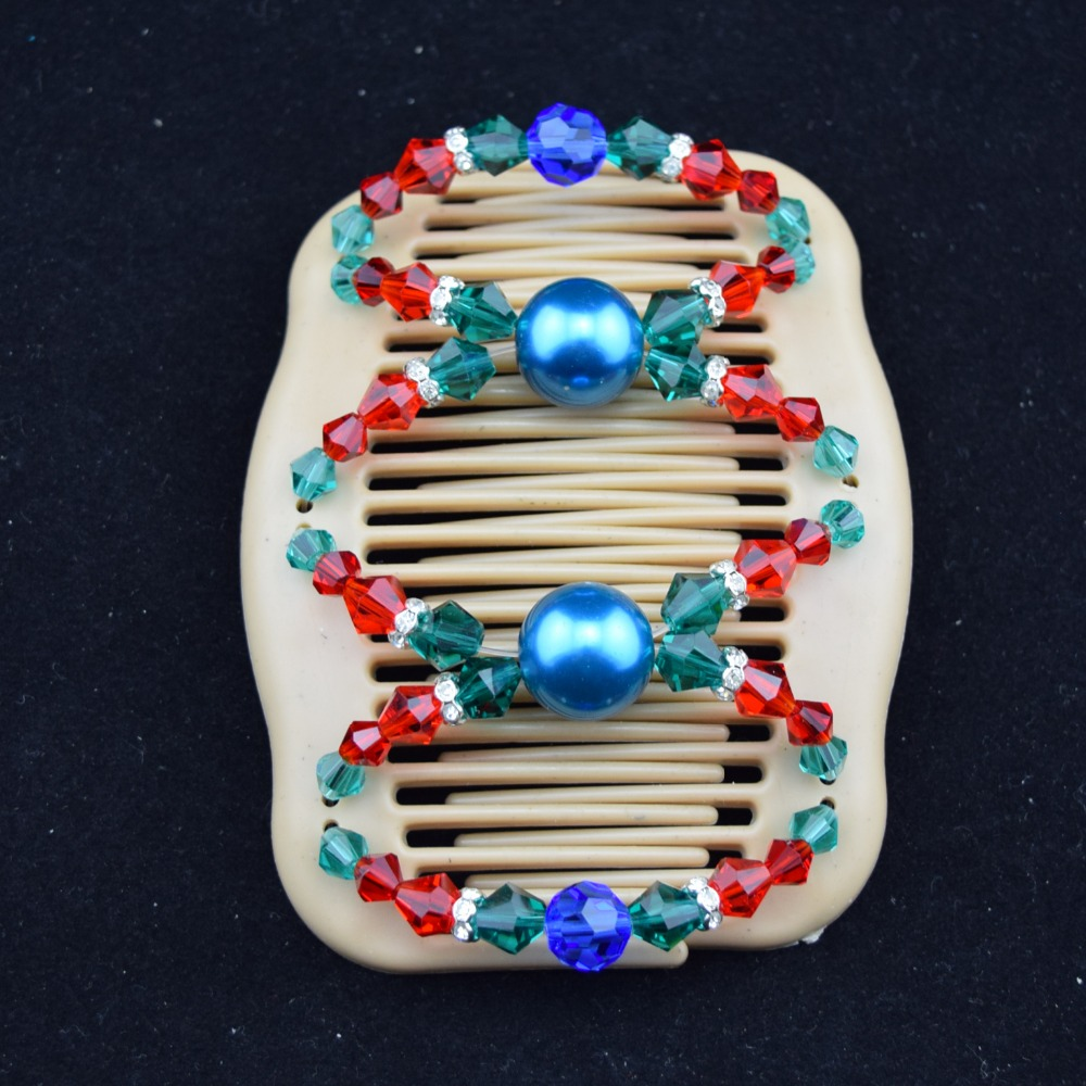 50pcs/lot christmas blue beautiful glisten african butterfly magic comb free shipping<br><br>Aliexpress