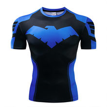 Новая летняя 3D железная Человек-паук футболка мужская Marvel Мстители Мужская Футболка компрессионная для кроссфита с коротким рукавом бренд...(China)