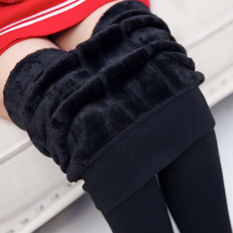 Free shipping 2015 new High waist Winter women Monolayers Warm leggings thickened Candy color step foot casual sport dress(China (Mainland))