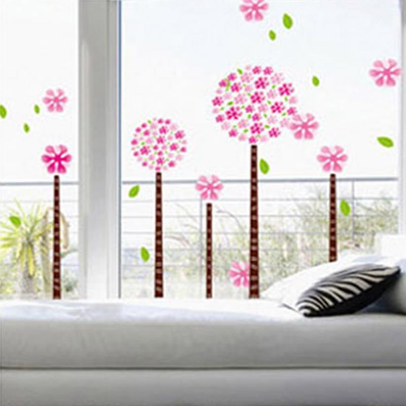 Wall Stickers Home Decoration For Kid Room Pink Pandora Tree Poster Modern Acrylic Diy Art Glass Room Wardrobe Decoration Vinyl(China (Mainland))
