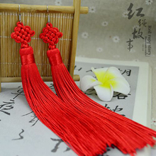Chinese national wind Multicolor tassels Chinese knot earrings for women Jewelry free shipping YPE013(China (Mainland))