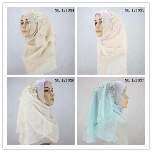 7 Colors High Quality Ryan Sting Beads Muslim Headwear Long Hijabs Head Scarf Novelty Gift(China (Mainland))