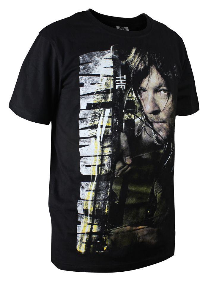 The fifth season The Walking Dead T-shirt DARYL Cosplay Costume Printing T Shirt Casual Men Cotton Tshirt Tees  HTB1dIhTHFXXXXacXXXXq6xXFXXXb