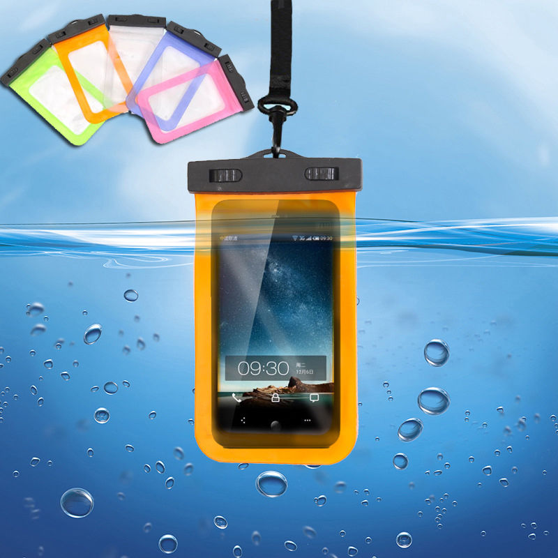 Waterproof Underwater Pouch Dry Bag Case Cover For iPhone Cell Phone Touchscreen smartphone colorful(China (Mainland))