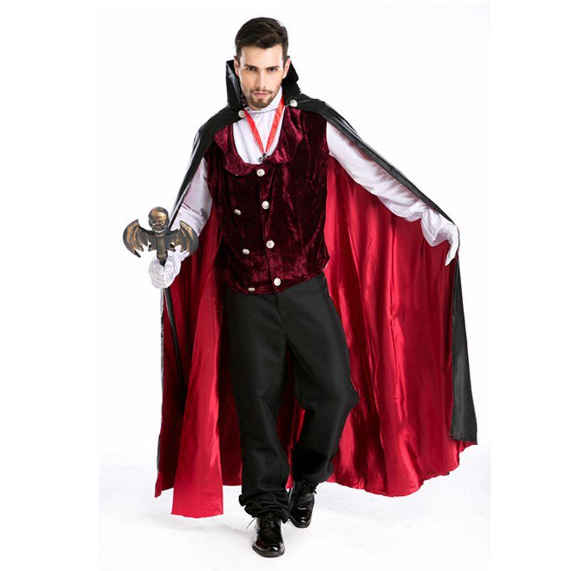 Gothic Vampire costume men halloween costume for men victorian dress disfraces halloween victorian period costume disfraz hombreОдежда и ак�е��уары<br><br><br>Aliexpress