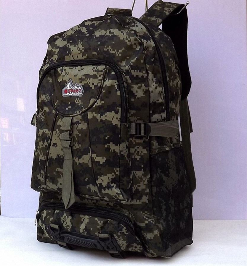 Large capacity man travel camouflage bag outdoor mountaineering backpack men hiking camping canvas bucket shoulder bag  LI-460<br><br>Aliexpress
