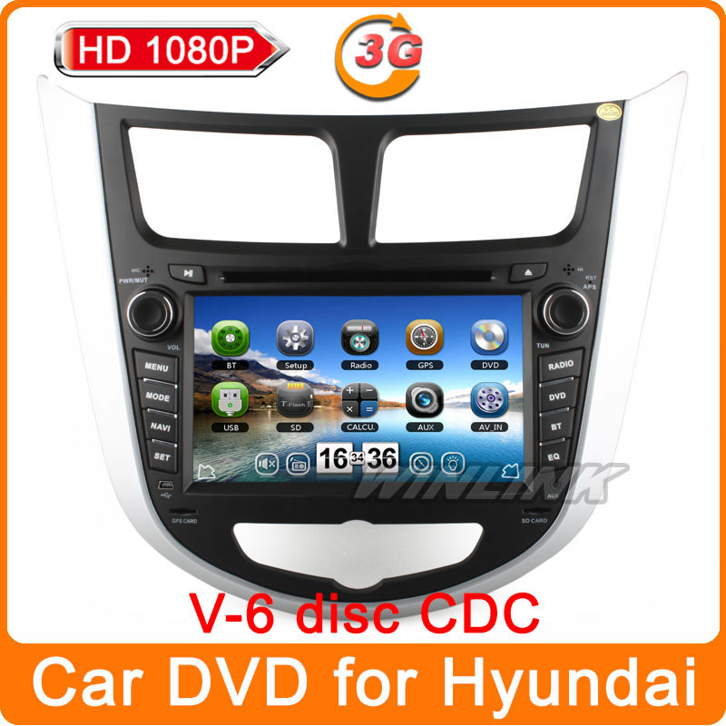 HD 1080P WinCE 6.0 Car dvd gps player Navi for Hyundai Solaris Verna I25 accent Navigation stereo radio multimedia car pc(China (Mainland))