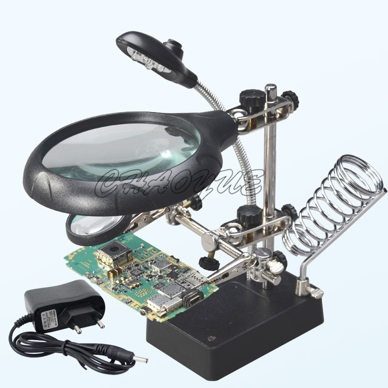 buy 3 in1 hand soldering solder iron stand holder station 16129 c from reliable. Black Bedroom Furniture Sets. Home Design Ideas