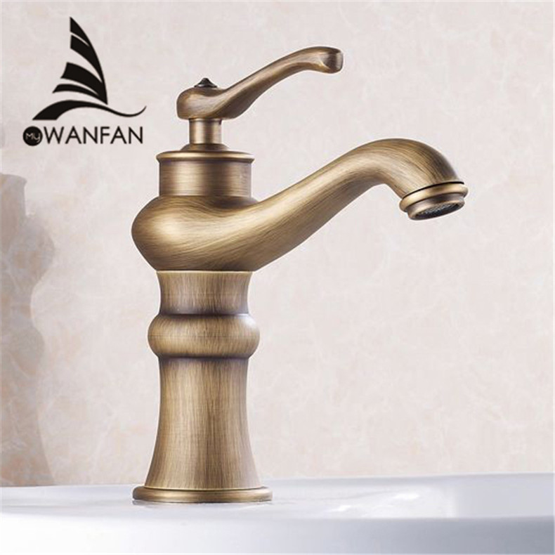 Free Shipping Wholesale And Retail Antique Bronze Bathroom Faucet Single Handle Vessel Sink