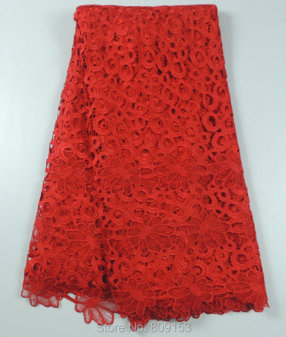Здесь можно купить  Free shipping !(5yards/pc) Lovely flower pattern African cord lace fabric in red African water soluble lace for dress WLW023 Free shipping !(5yards/pc) Lovely flower pattern African cord lace fabric in red African water soluble lace for dress WLW023 Дом и Сад