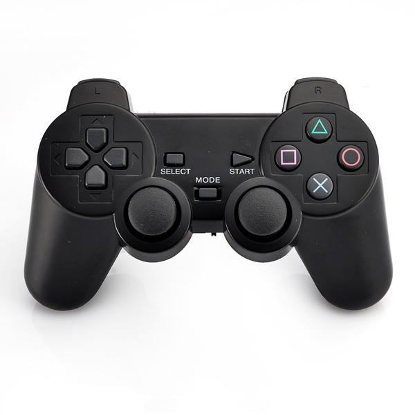 3-in-1 2.4G Dual Vibration Wireless Controller with LED Indicators for PS3, PS2, PC (Black(China (Mainland))