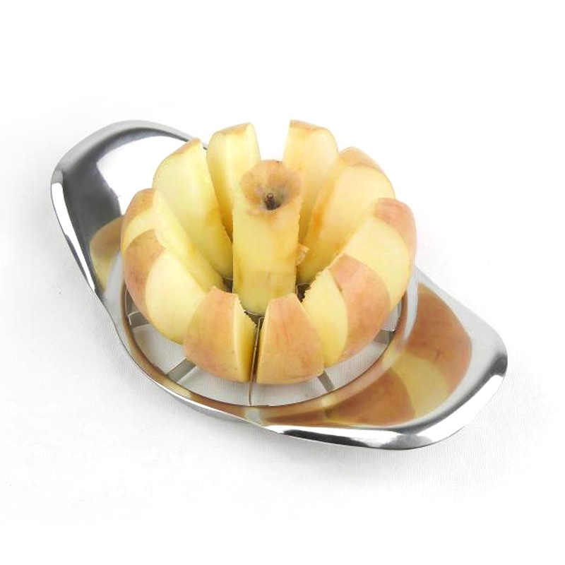 2016 New Stainless Steel Apple Slicer Divider Corer Pear Cutter Fruit Vegetable Tools Easy Cutting Apples Kitchen Accessories(China (Mainland))