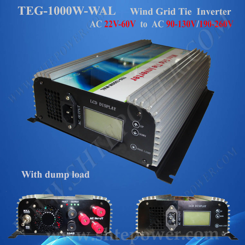 1000w 24v/ 48v 3 phase wind turbine On Grid Tie Wind Inverter 1KW,Dump Load Controller,AC 22v-60V AC 220V, 230v, 240v(China (Mainland))