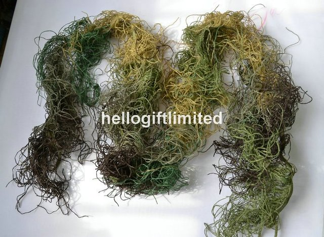 Elastic Synthetic Fiber 4 Colors Mixed Woodland Ghillie Paintball Airsoft Rifle Camoflauge Camo Wrap Hunting Accessories