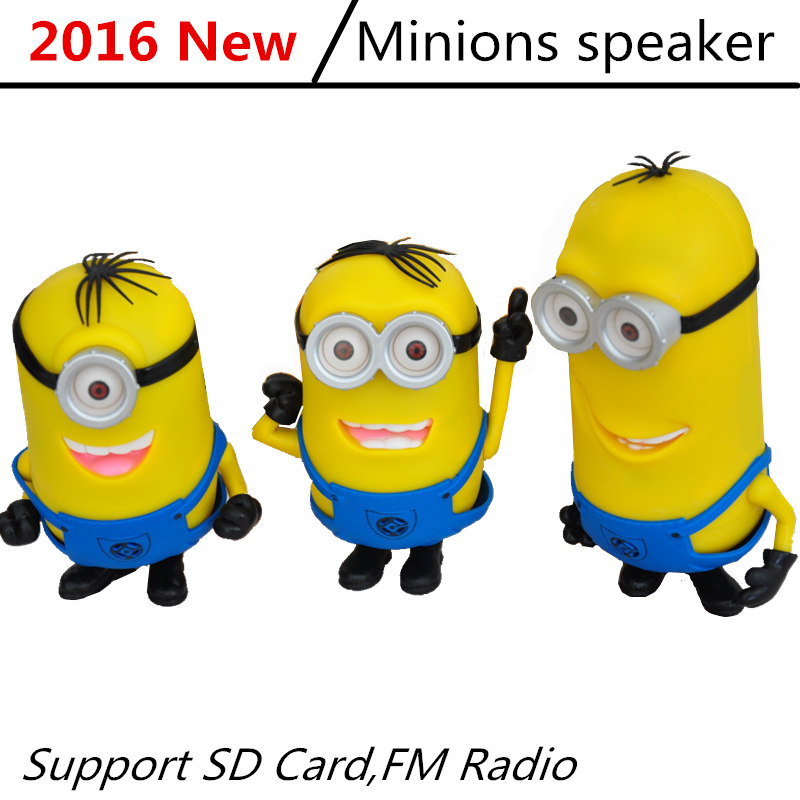 New Mini Portable Minions Speaker Cute Minion Despicable Me 2 Speakers Micro SD TF Card USB MP3 Music Player Amplifier for Phone(China (Mainland))