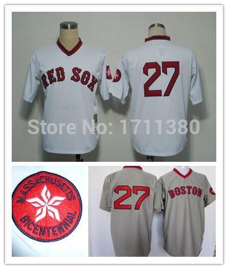 27 Carlton Fisk jersey Stitched Boston Red Sox wholesale ...
