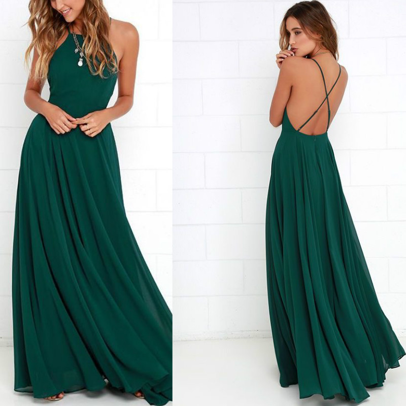 Long Halter To Prom Dresses - Plus Size Prom Dresses