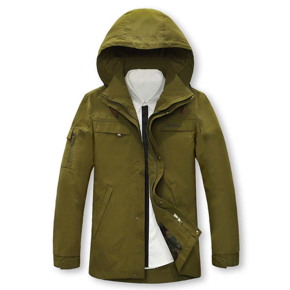 2015 New Arrival Men Jackets Outdoor Army Military Style Jackets 100 Cotton Jacket Hoods With