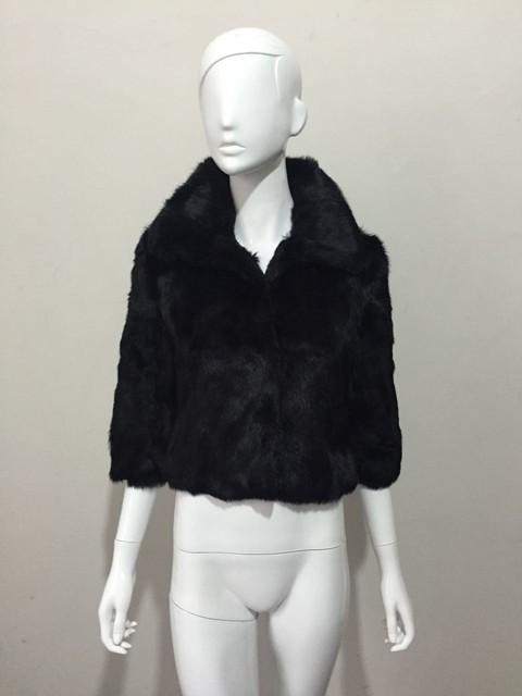 FC044 черный цвета китайский продавать женские зимние верхняя одежда натуральный мех пальто