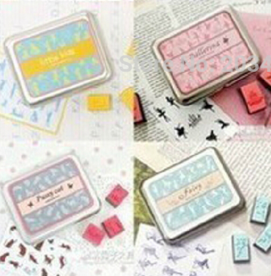 Mulit option Wooden lovely style vintage Antique Stamps seal stamper collection diary gift craft toy DIY tool wholesale whcn(China (Mainland))
