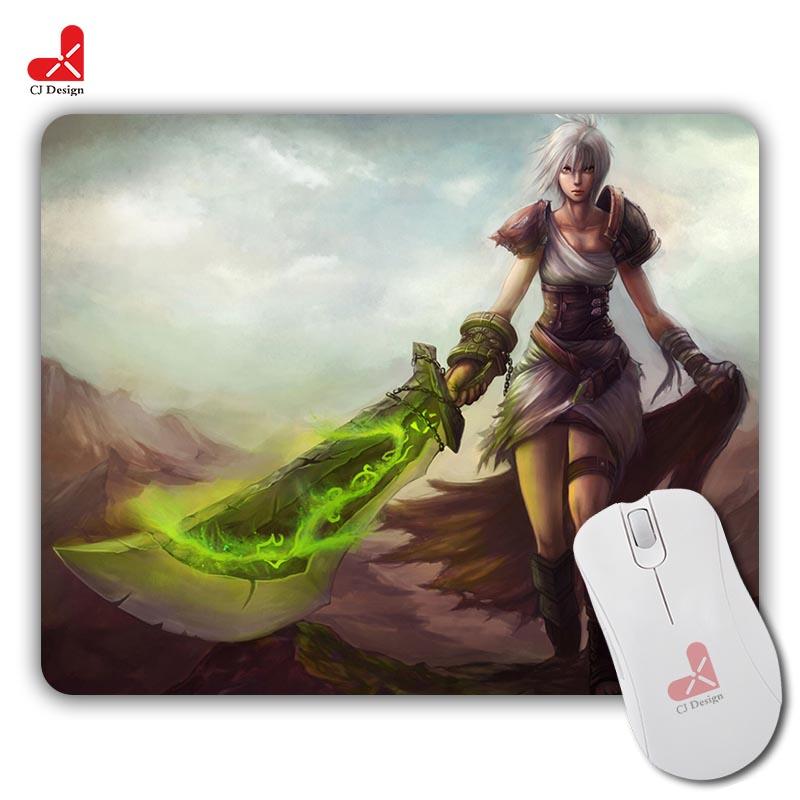 Fashion Design Blades of exile Rui Wen Pattern Desktop Pad Optical Silica gel Mouse Mat Mice Pads Durable Gaming Speed Mats(China (Mainland))