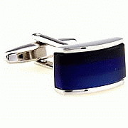 Nobel Square Tuxedo Stud set and Cufflink Set Blue Crystal Center and Silver Color Stainless Steel Edge Cuff links / Buttons<br><br>Aliexpress