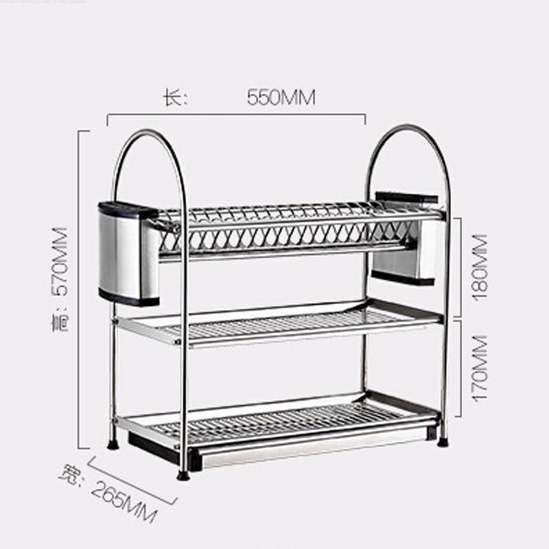 Buy Deck Mount stainless steel Kitchen Shelf Hanger Organizer Hook Knife Pan Rack 3 Layers cheap