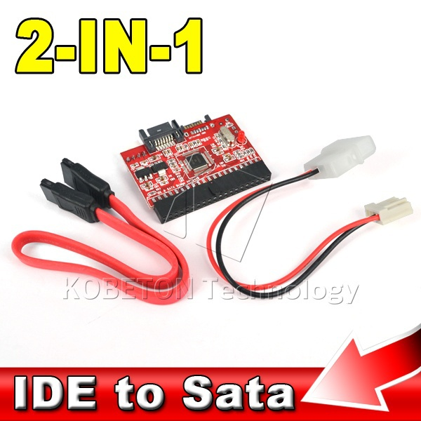 """2 in 1 SATA to IDE Adapter IDE to SATA Converter 40 pin 2.5"""" inch Hard Disk Driver Support for ATA 133 100 HDD CD DVD Adaptor(China (Mainland))"""