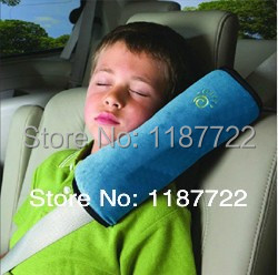 Free Shipping One Pair Baby Auto Pillow Car Safety Belt Shoulder Pad Vehicle Seat Belt Cover Cushion for Kids Children(China (Mainland))