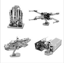 Buy Laser Cutting Model Star Wars R2 D2 Droid Robot Walker Millennium Falcon Upsilon-class command shuttle Metal 3D Puzzles puzzles for $5.19 in AliExpress store