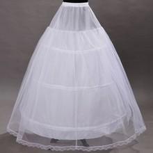 In Stock 2015 Hot Sale 3 Hoop Ball Gown Bone Full Crinoline Petticoats For Wedding Dress Wedding Skirt Accessories Slip(China (Mainland))