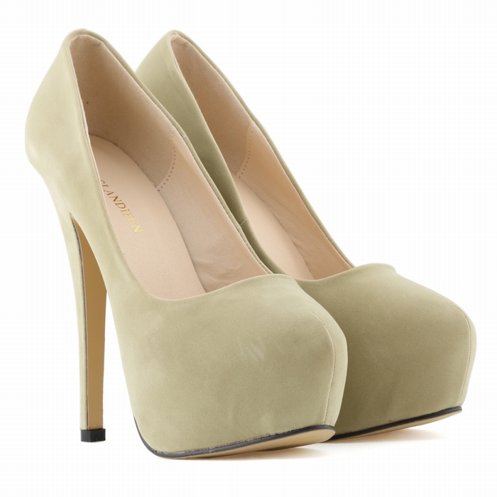 Гаджет  NEW WOMENS HIGH HEELS PARTY COURT SHOES Flock CONCEALED PUMPS PLATFORM POINTED TOE SHOES US SIZE US4-11 None Обувь