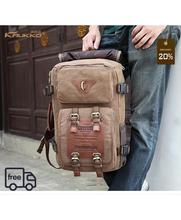 Buy Marke Stilvolle Reise New vintage rucksack canvas backpack leisure travel schoolbag unisex laptop backpacks men backpack male for $32.79 in AliExpress store