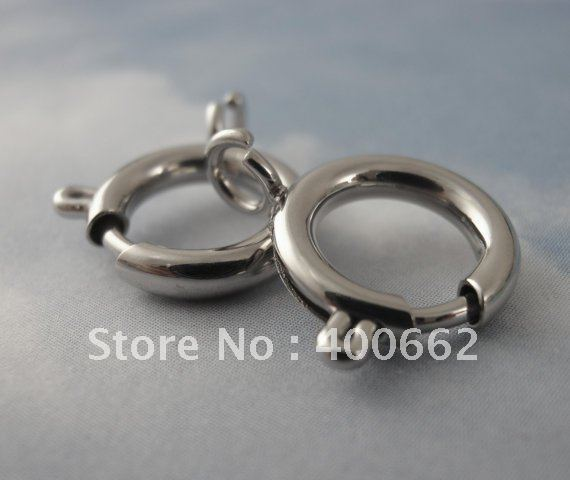 bling shiny 316L stainless steel high polishing 12mm spring clasp fit for bracelet necklace christmas promotion gift