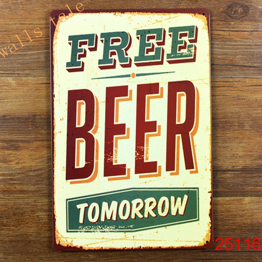 Aliexpress buy funny metal tin sign for bar pub wall