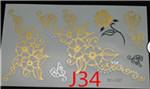 2015 Body painting gold henna kryolan tattoos flash face makeup metalic tatto face paint tatouage golden tatto(China (Mainland))