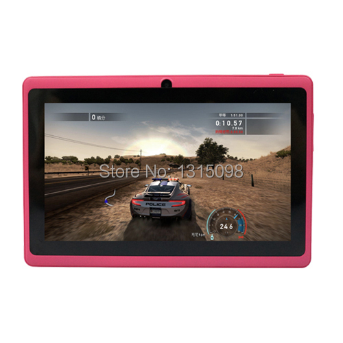 Quad core 7 inch Yuntab tablet Q88 Allwinner A33 Android tablet pc DDR3 512MB ROM 8GB