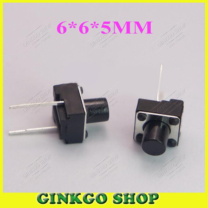 200pcs/lot Commun Power Key Button On/Off  Switch 6*6*5MM Mid 2DIP Pin Tough Switch Button<br><br>Aliexpress