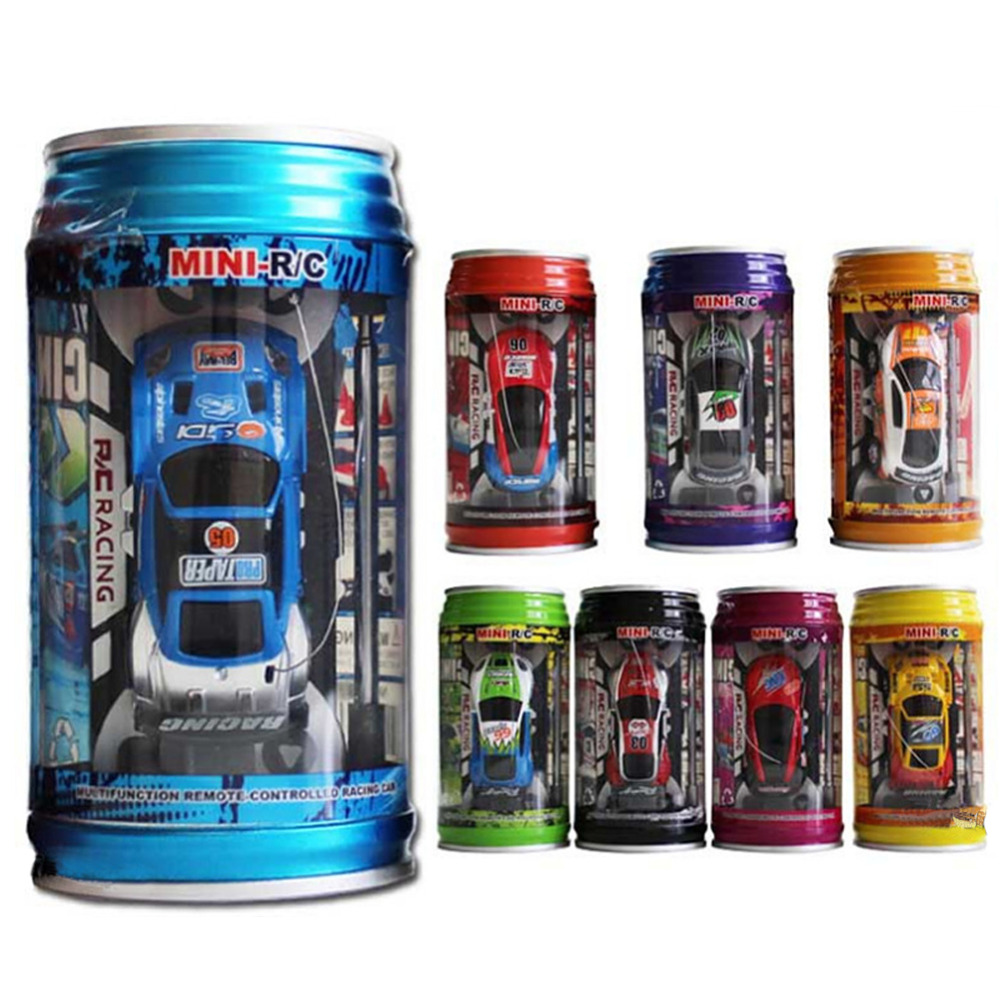 7 Colors Coke Can High Speed RC Car Radio Remote Control Car Micro Racing Car Toy 4pcs Road Blocks Kid's Toys Gifts(China (Mainland))