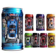 7 colori coke può ad alta velocità rc radio remote controlla la micro racing  Auto giocattolo 4 pz blocchi stradali rc giocattoli giocattoli per bambini regali 2016 nuovo(China (Mainland))