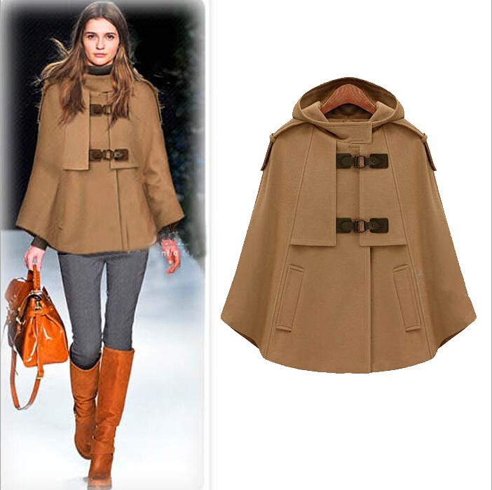 Здесь можно купить  Cape Autumn Winter Top Quality Ladies Coat  Wool Fashion Casual Poncho Loose Cloak  Outwear Tops    Одежда и аксессуары