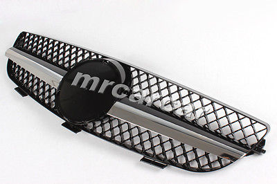 100% Brand New ABS Black Mesh Grill ,Auto Car Front Grille Fit For Mercedes Benz C209 A209 W209 CLK 04-09(China (Mainland))