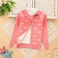 6 14 Years Girls Cotton Cardigan Girls Sweaters 2017 Spring New Style Children Clothes Baby Winter