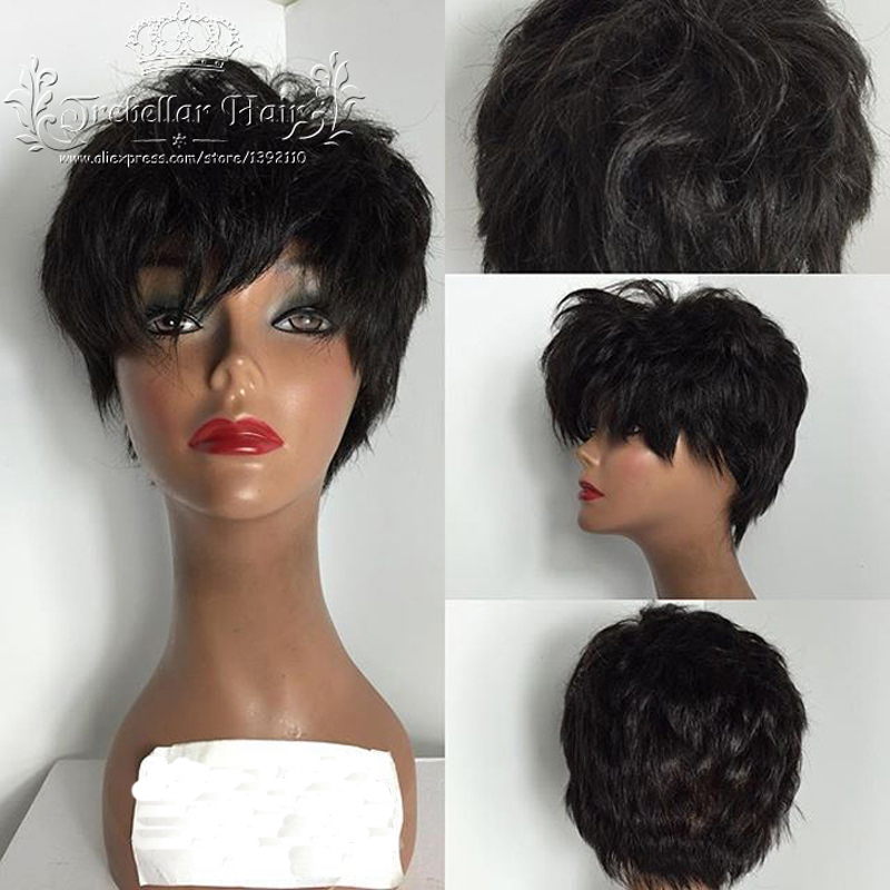 Human Hair Short Wigs Front Lace Wig Brazilian Human Hair Full Lace Short Wigs Full Lace Human Hair Wigs For Black Women Short(China (Mainland))